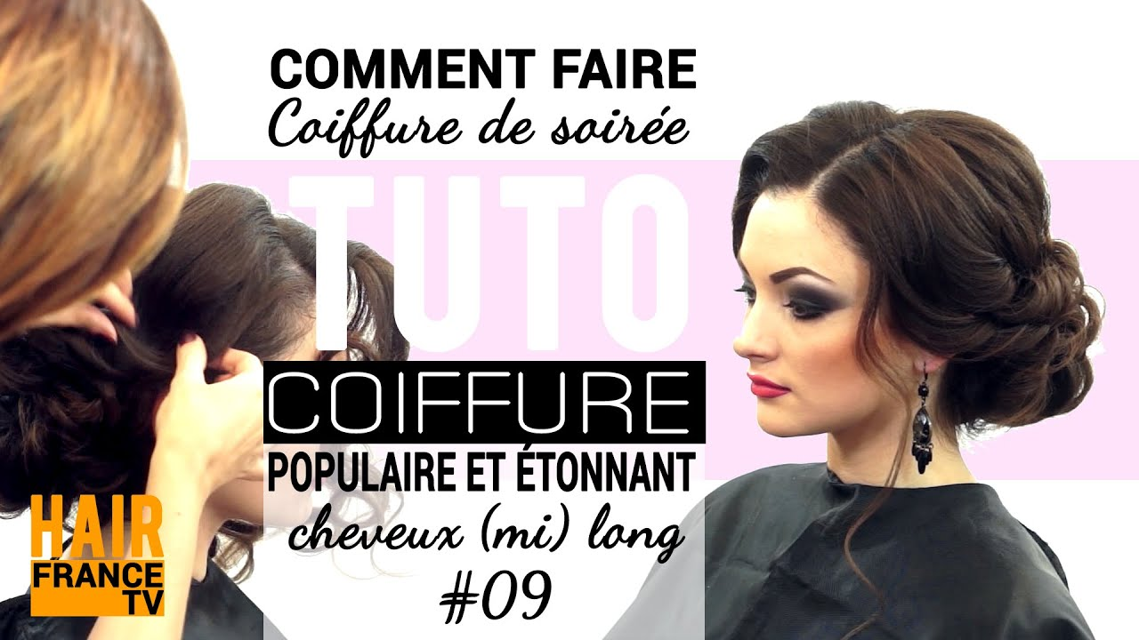 tuto coiffure coiffure de soir e tonnants hairfrance tv youtube. Black Bedroom Furniture Sets. Home Design Ideas