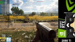 Battlefield V Max Settings , DXR Ray Tracing Ultra , DLSS Update 4K | RTX 2080 Ti | i9 9900K 5GHz
