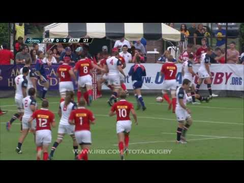 Highlights of USA v Canada in Rugby World Cup 2015 qualifier