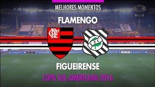 Melhores Momentos - Flamengo 3 x 1 Figueirense - Copa Sul-Americana - 31/08/2016