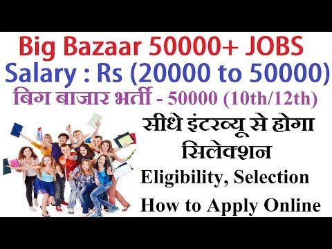 Big Bazaar 50000+Jobs 2019 Online Registration, Eligibility, Selection