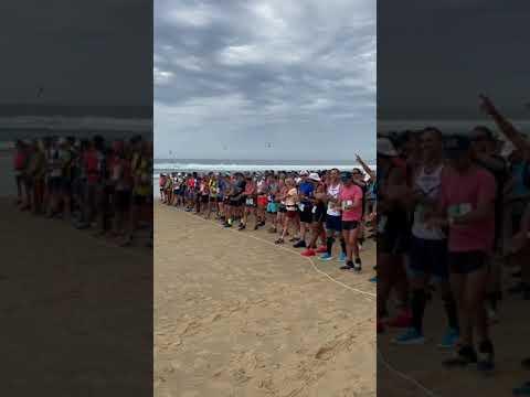 Foulée des Baïnes #v0 - Départ de la course des 22, 31kms Plage Grand Crohot Lège-Cap Ferret #shorts
