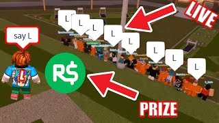 Win SIMON SAYS for FREE $10 ROBUX!   UPDATE THIS WEEKEND!!!   Roblox Jailbreak Live