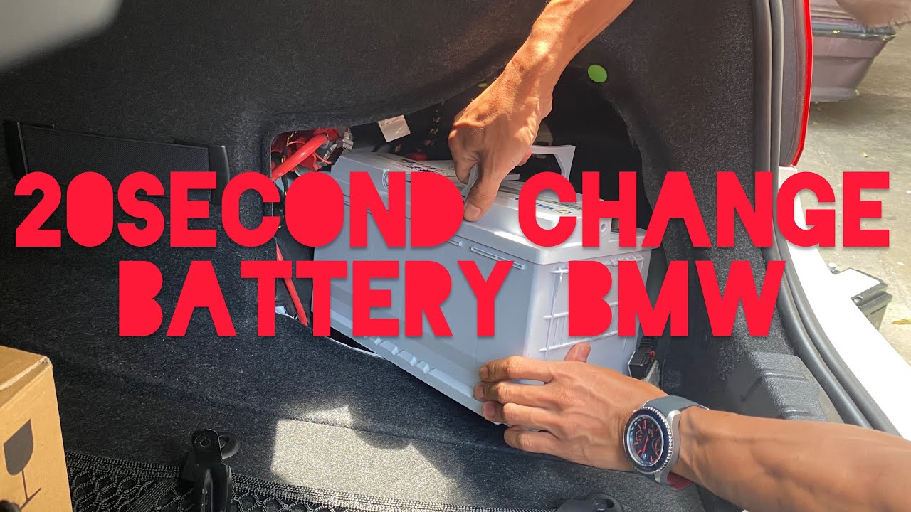 how to change battery bmw f30  youtube