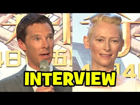 DOCTOR STRANGE Cast Interview - Benedict Cumberbatch, Tilda Swinton & Scott Derrickson