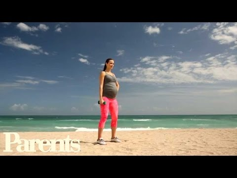 Celebrity Pregnancy Workout: Stand Tall | Parents
