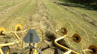 raking hay with the oliver 1800