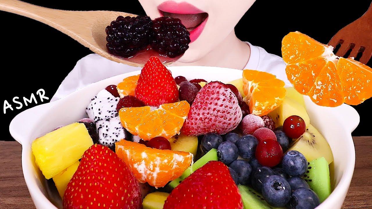 ASMR NATURE'S CEREAL, FRUITS  틱톡 네이쳐스 과일시리얼 EATING SOUNDS MUKBANG 과일먹방