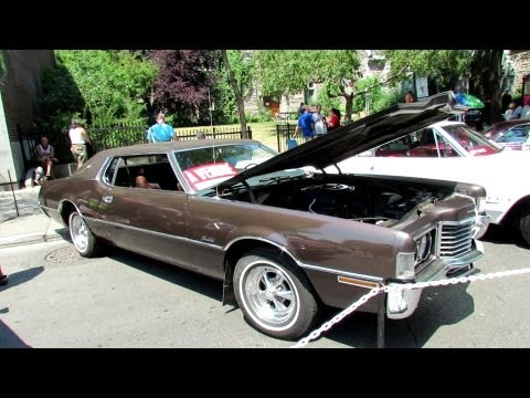 1972 Ford Thunderbird Coupe Exterior And Interior - Saint Catherine Street, Montreal, Quebec, Canada