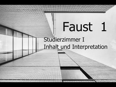 Goethes Faust Inhalt Und Interpretation Studierzimmer I Youtube