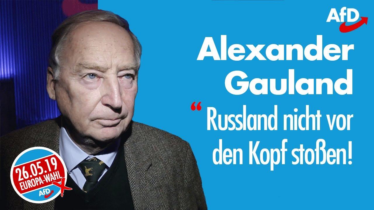 """Alexander Gauland: """"Russland nicht vor den Kopf stoßen!"""""""