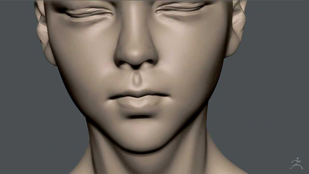 Zbrush Sculpting - Girl with eyes closed 01 - YouTube