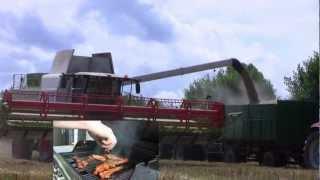 Gerste Dreschen mit Claas Lexion 750 570 Do98sl Do96 2012