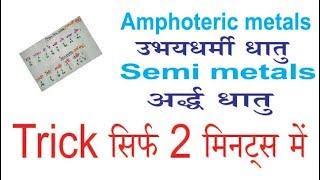 Amphoteric metals & Semi metals Trick-