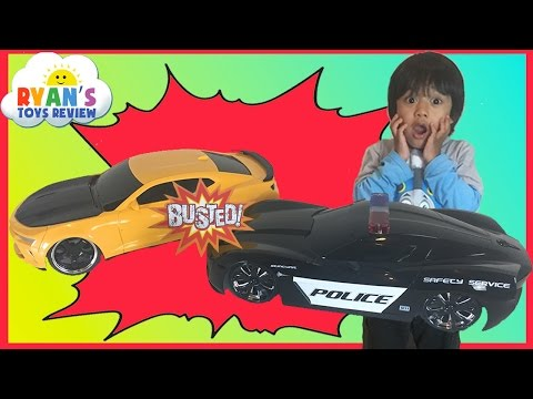 Ryan Racing Cars around the house with Remote Control toy car for kids