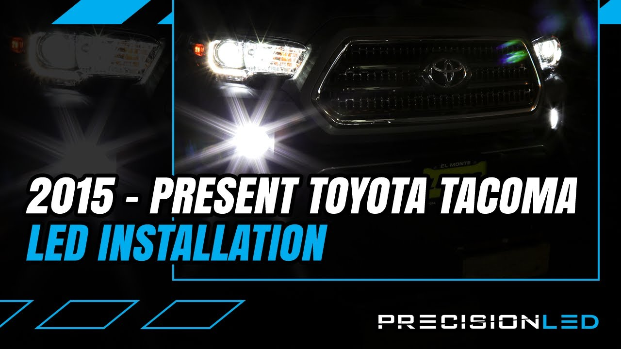 toyota tacoma led fog light how to install 3rd gen 2015  [ 1280 x 720 Pixel ]