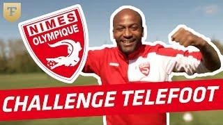 Challenge : Les joueurs du Nîmes Olympique et le challenge de la barre