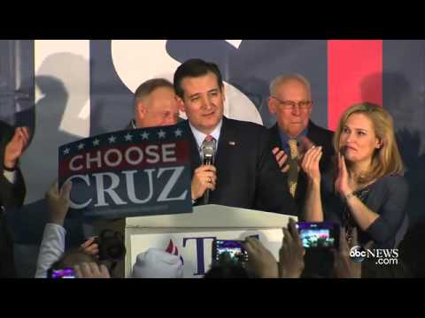 Ted Cruz Gives Victory Speech Following Projected Iowa Caucu