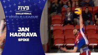 Hadrava spikes and scores - World League 2017