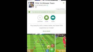 FIFA 16 ULTIMATE TEAM ANDROID OFFICIALLY LAUNCHED