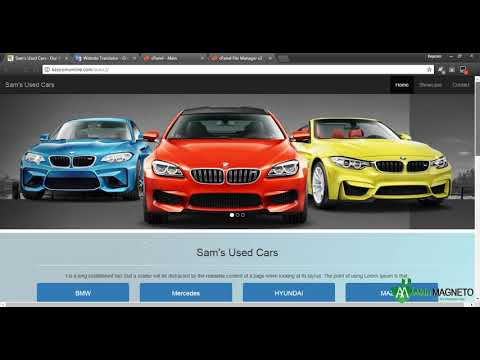12 – Adding a Google Translate Plug in – Free Language Translator – One Page Automobile Website Desi