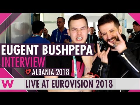 Eugent Bushpepa (Albania) interview  @ Eurovision 2018 | wiwibloggs