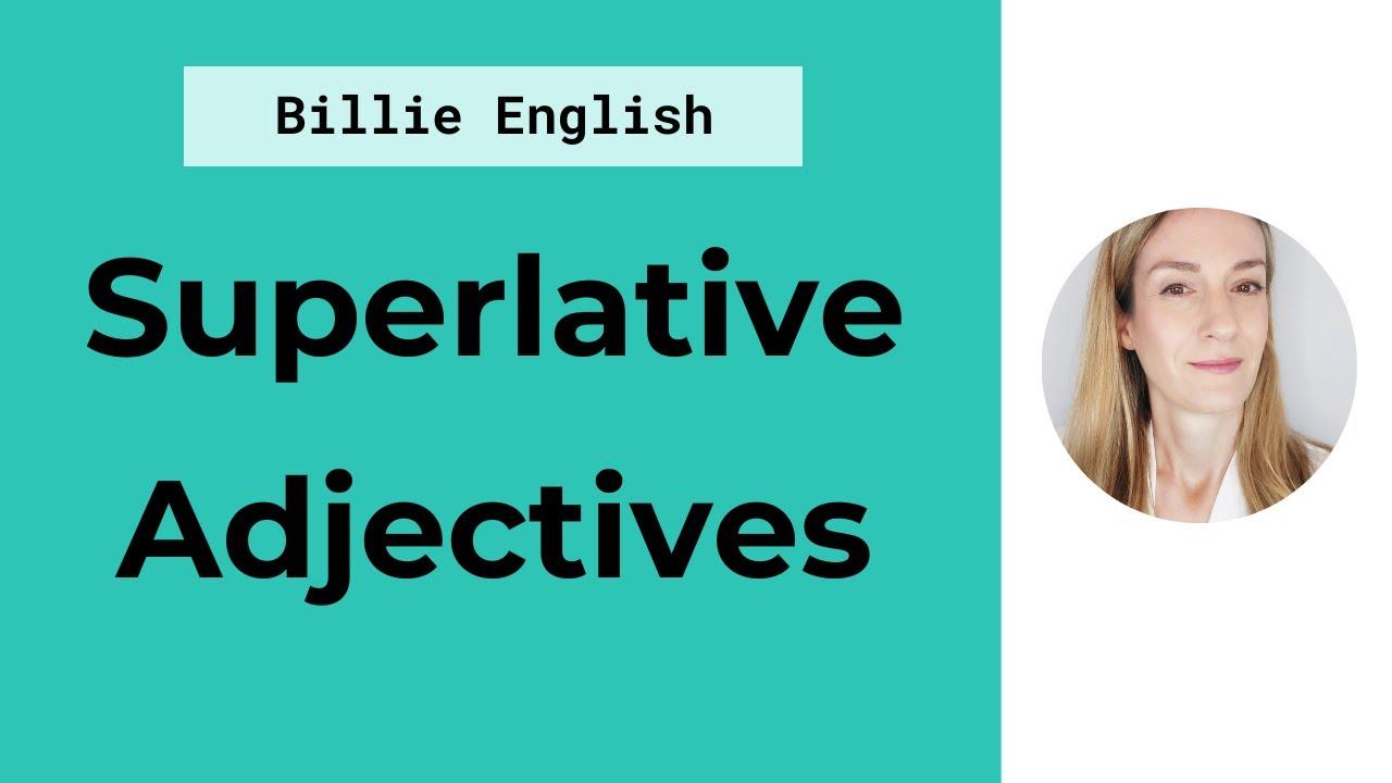 Superlative adjectives - YouTube