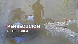 Policías persiguen a ladrones de tráiler en Jalisco