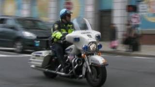 Boston Transit Police K9 Unit + Police Harley Davidson + Crown Victoria Police Car