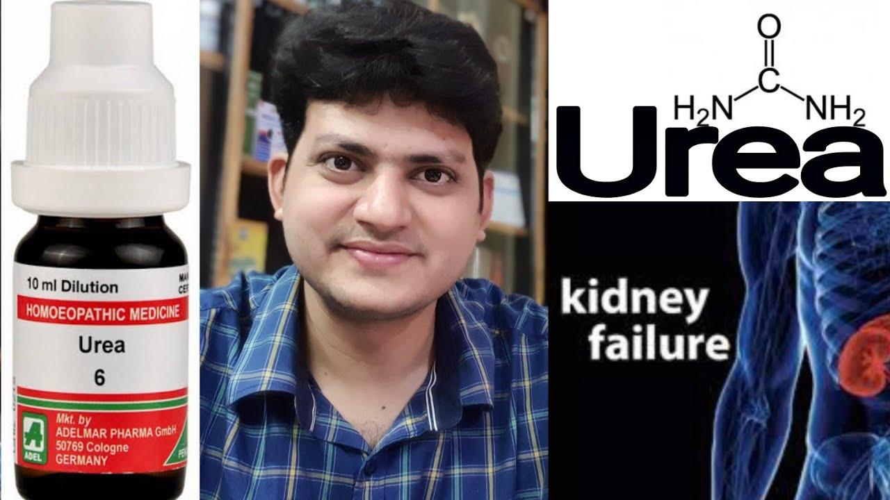 Homeopathic Medicine Urea Increased Urea And Creatinine In Blood Edema In Body Kidney Failure Youtube