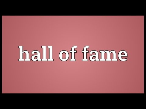 Hall of fame Meaning