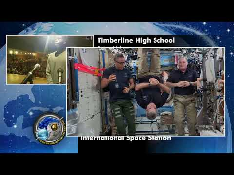 Space Station Crew Discusses Life in Space with Idaho Students