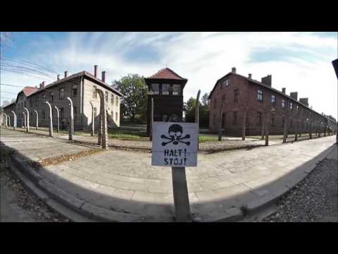 Auschwitz-Birkenau Walk through – 360° movie. High Quality 4K