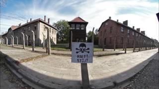 Auschwitz-Birkenau Walk through - 360° movie. High Quality 4K