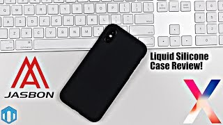 iPhone X Jasbon Liquid Silicone Case Review! Great Apple Silicone Case Alternative!