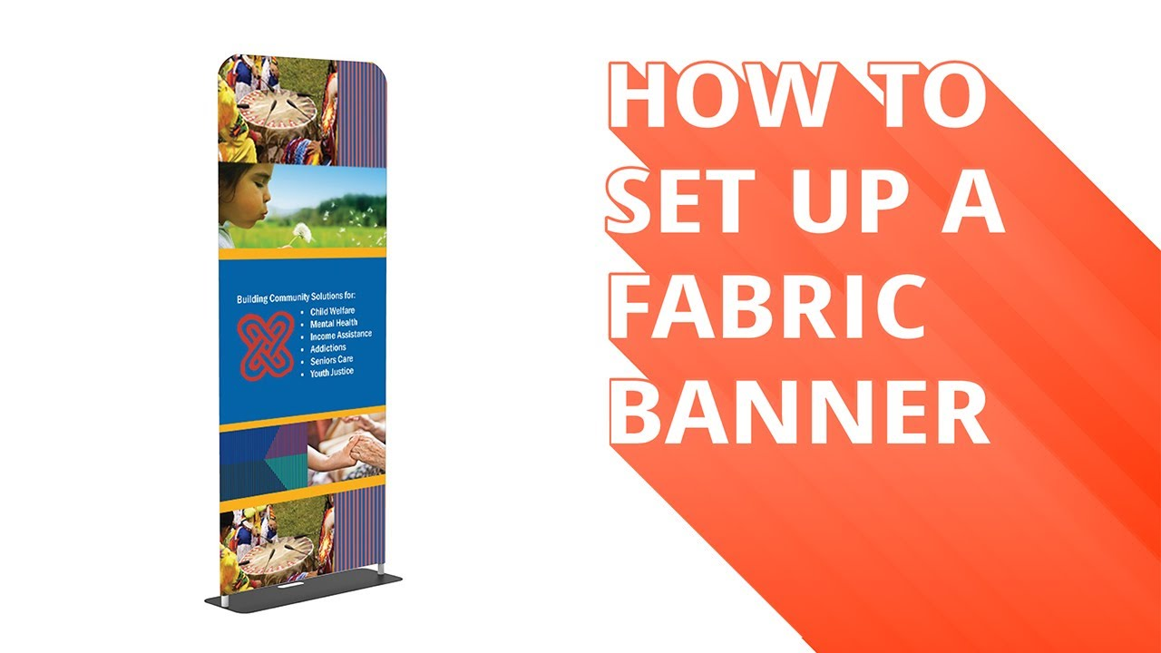 Double Sided Print. Tension Fabric Banner w//Premium Stand 60x90 Trade Show Display
