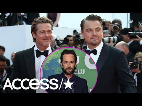 Brad Pitt & Leonardo DiCaprio Totally Fanboyed Over Luke Perry & We Don't Blame Them One Bit | Acces