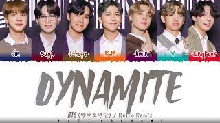 BTS (방탄소년단) - 'DYNAMITE' (RETRO REMIX) Lyrics [Color Coded_Eng]