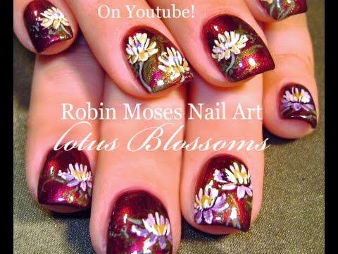 Lotus blossom nails flower nail art design tutorial youtube prinsesfo Choice Image