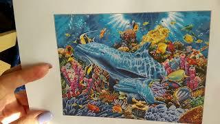 Текущие процессы: дельфины в океане от амишоп, лошадки от дименшенс, совушка от панны