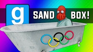Gmod: Winter Olympics - Sled Build Race & Chaos! (garry's Mod Sandbox Funny Moments)