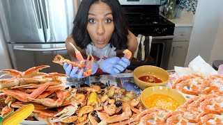 SEAFOOD BOIL MUKBANG! WATCH ME EAT!