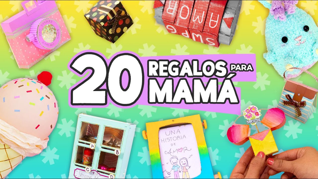 20 Regalos Fáciles Para Mamá Manualidades Sencillas Craftingeek Youtube