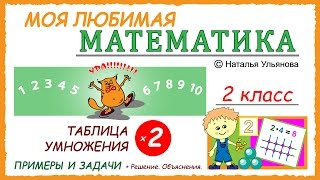 Таблица умножения на 2. Примеры и задачи. Математика 2 класс.