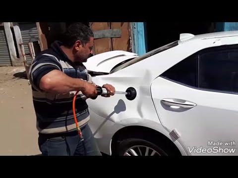 تصليح رفرف سياره تويوتا كورولا 2015 مقلوبه على البارد بالشفط وليد التنين تليفون ٠١٠٠٦٨٩٨٦٦٧