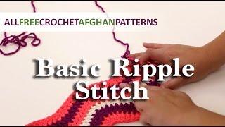 Video Crochet Basic Ripple Stitch Tutorial download MP3, 3GP, MP4, WEBM, AVI, FLV Juli 2018