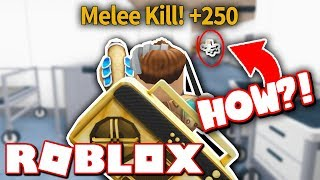 KNIFE MELEE KILL FROM ACROSS THE MAP?! *IMPOSSIBLE!* (Roblox Murder Mystery 2)