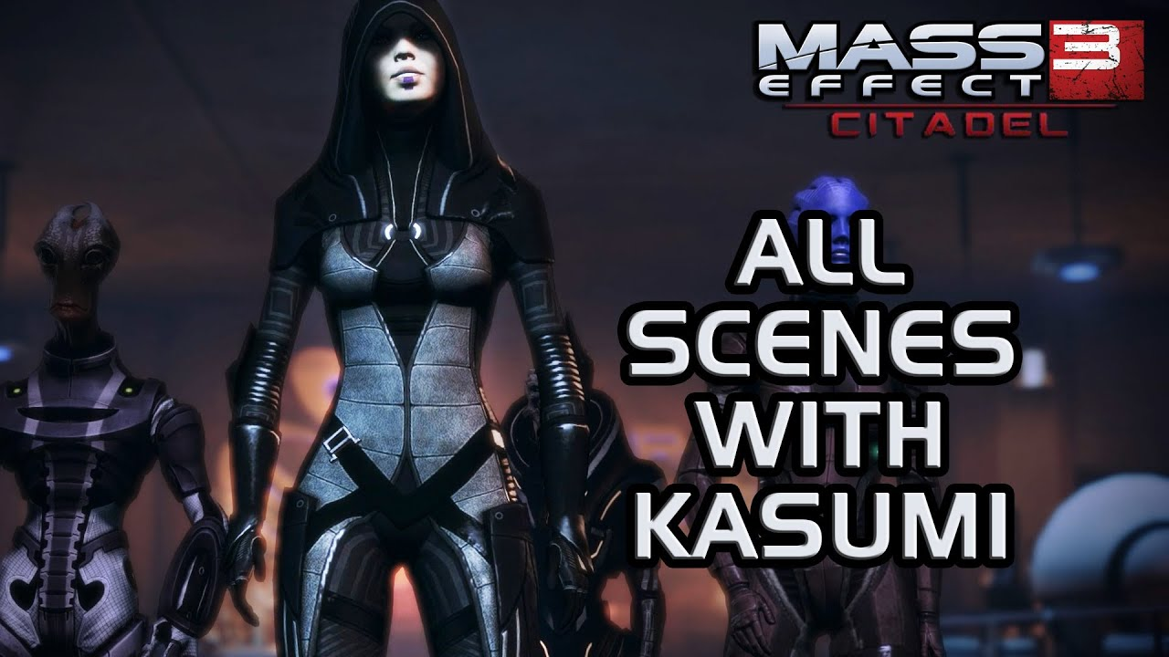 Mass Effect 3 Citadel Dlc All Scenes With Kasumi Youtube