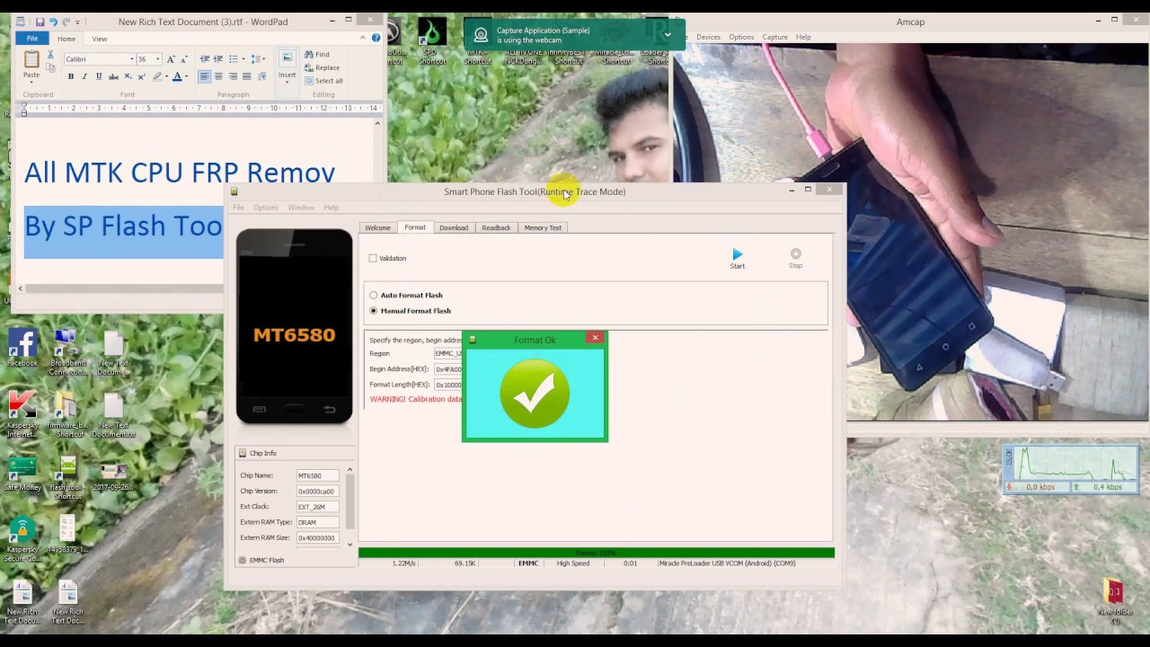 All MTK CPU FRP Remove By SP Flash Tool 100%OK