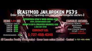 BEASTMOD OFFICIAL JAILBROKEN PS3's